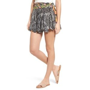 RAGA Boho Before Dawn Tie Mini Skirt NWT